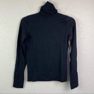 Theory Small Black Long Sleeve Turtleneck Sweater